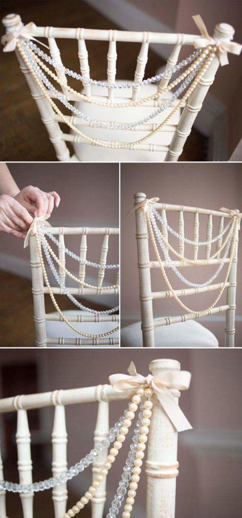 decorazione sedie matrimonio