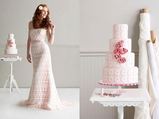 sposa e torta nuziale