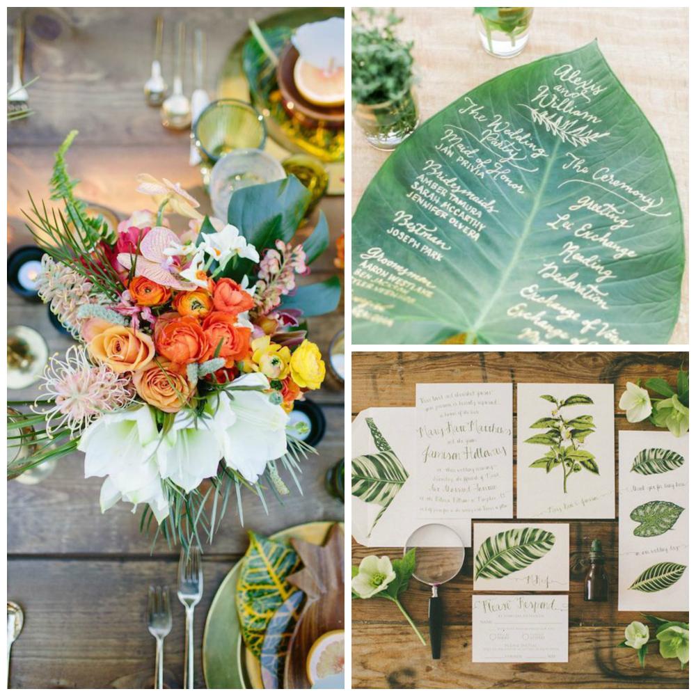 matrimonio con stile botanico