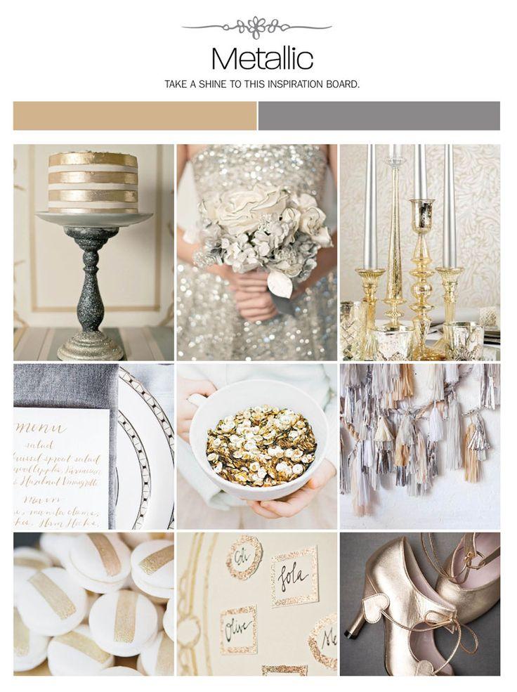 Accenti metallici per le nozze