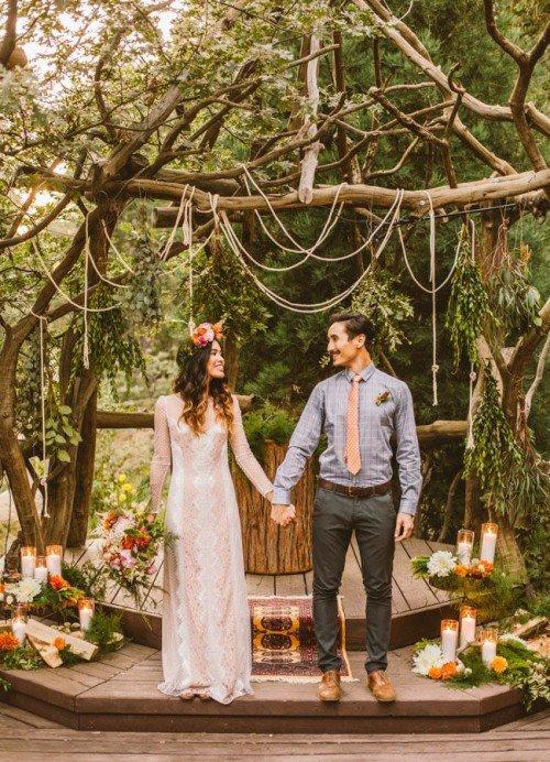 Stile boho chic per il matrimonio