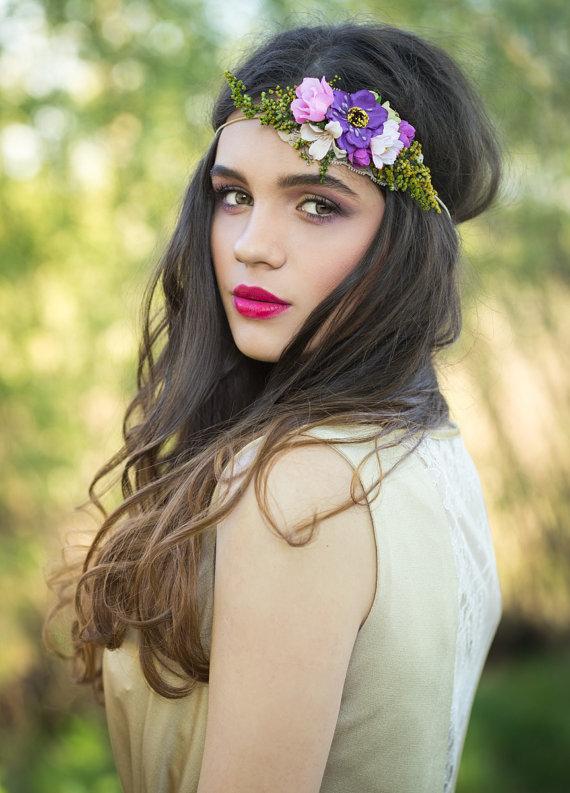 coroncina fiori per sposa