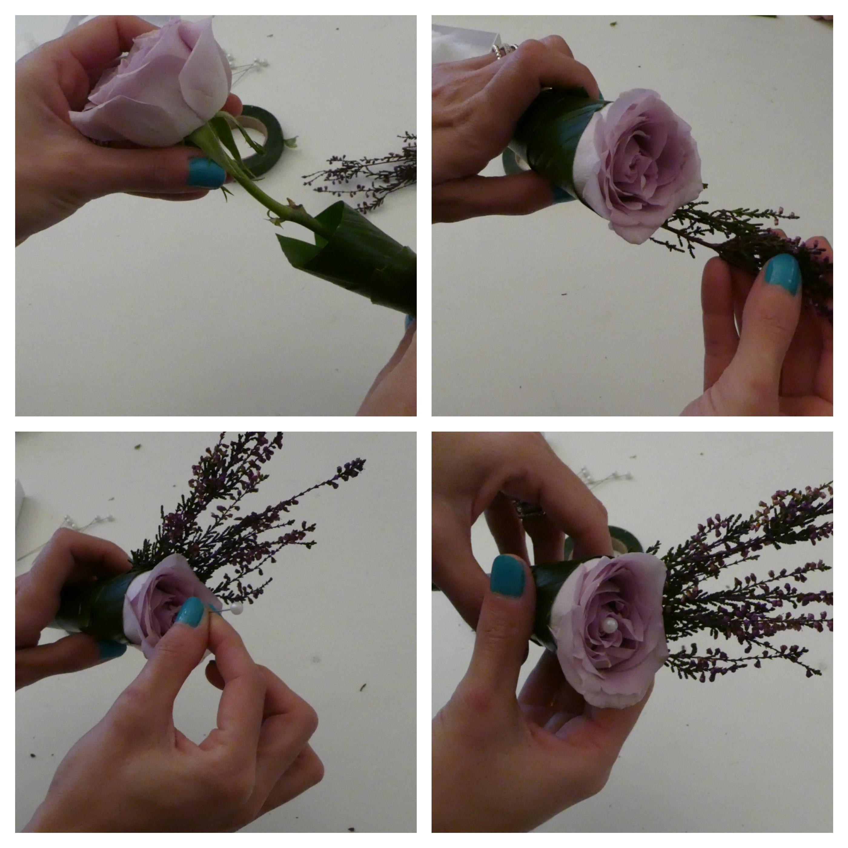 segnaposto matrimonio con rose fai da te