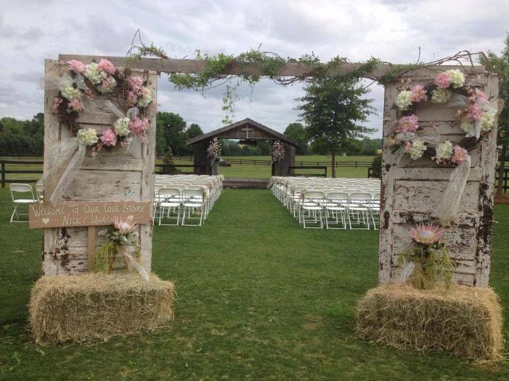 decorazione matrimonio stile country
