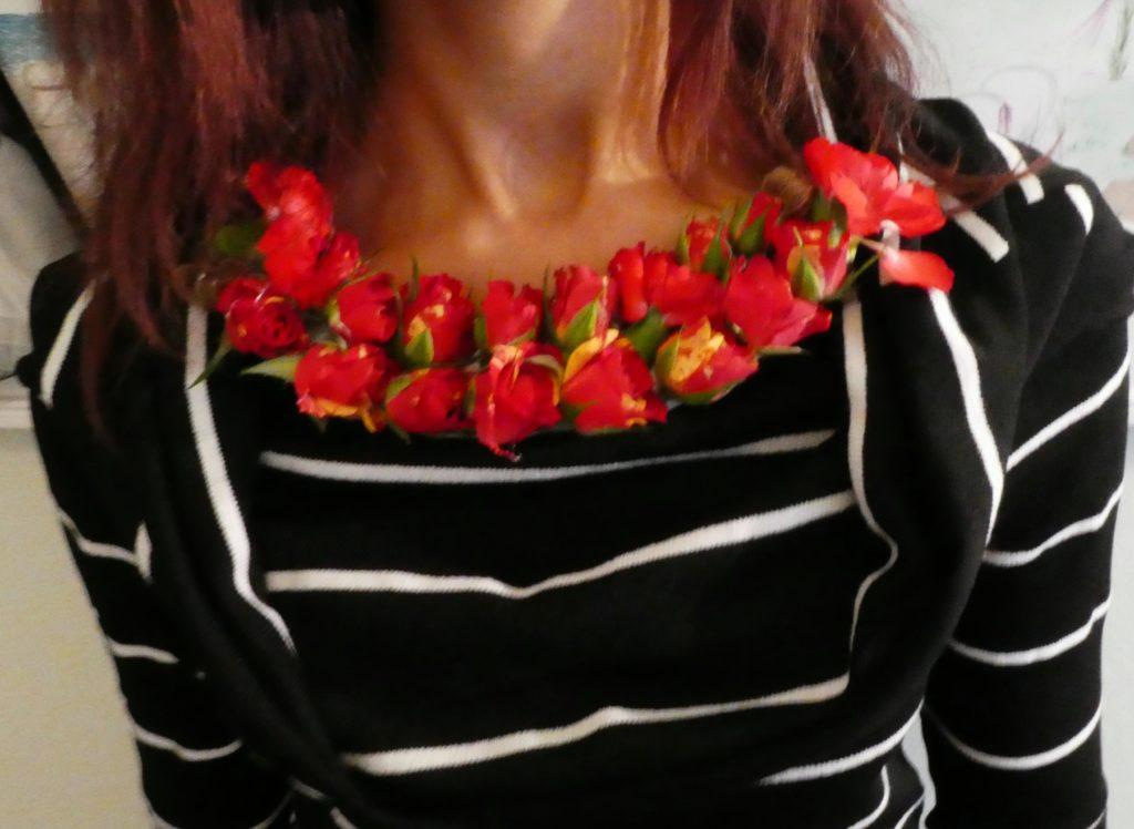 Collana di roselline fai da te
