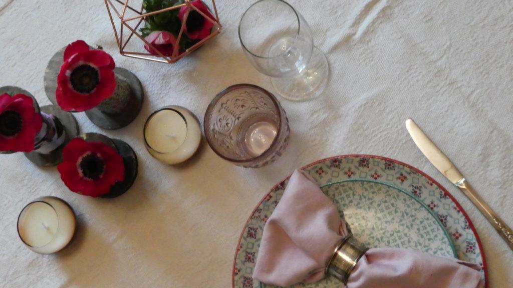 decorazione tavola primavera