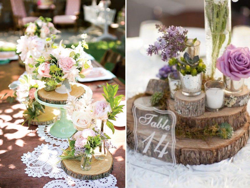 Centrotavola Matrimonio Stile Rustico : Idee di stile per un matrimonio rustico a