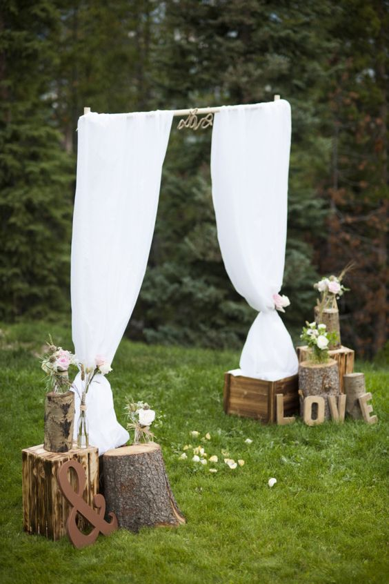 il tessuto nella decorazione delle nozze