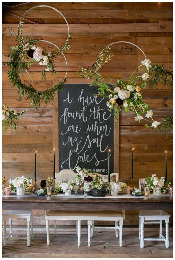 ghirlande hula hoop per decorare il matrimonio