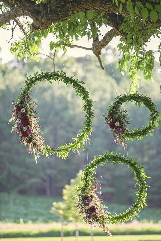 "ghirlande ""hula hoop"" per decorare il matrimonio"