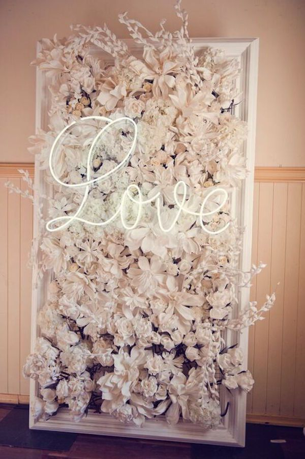 Flower wall per il matrimonio