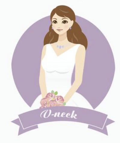 Coordinare l'acconciatura e l'abito da sposa