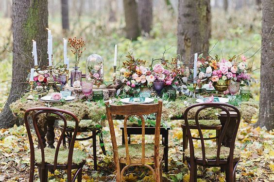tema nozze dedicato alla foresta incantata