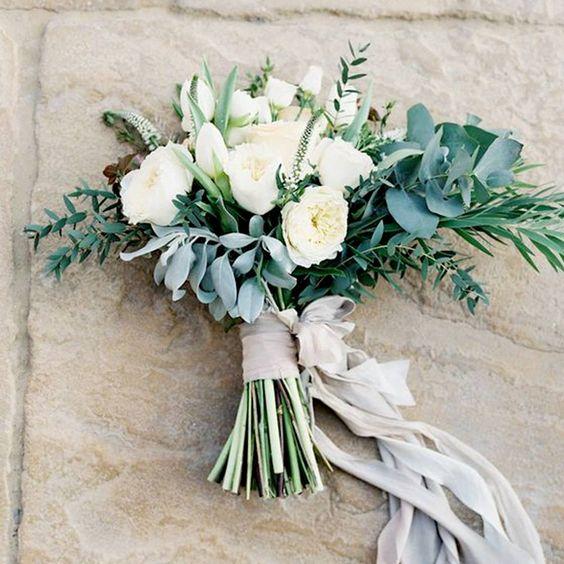 bouquet sposa gambi a vista