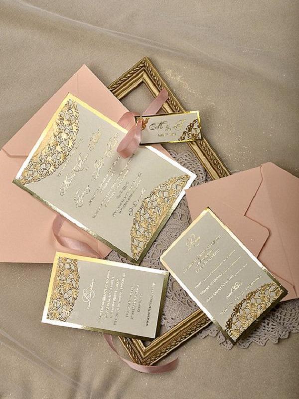rosa e oro per le nozze