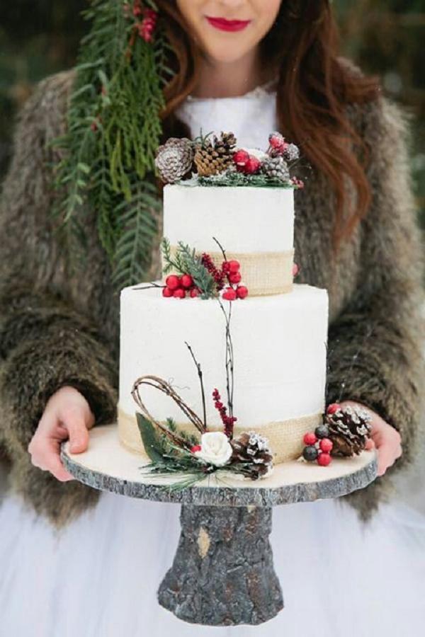 Torte nuziali per l'inverno