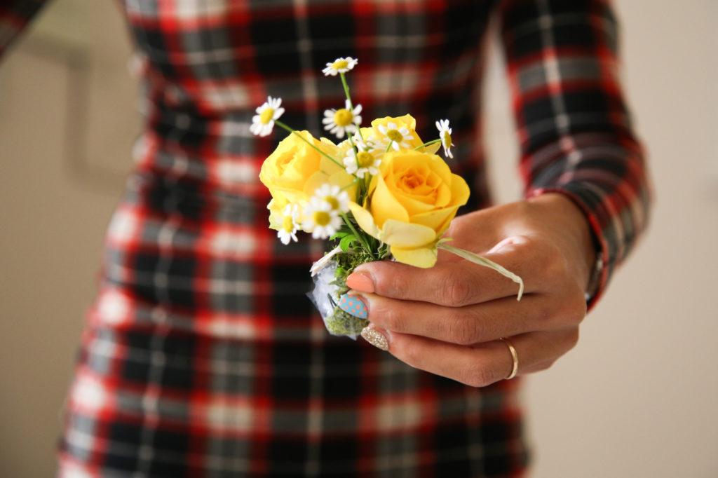 Palline decorative con fiori