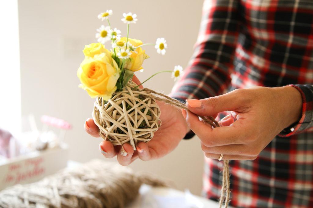 Decorazione fiori fai da te