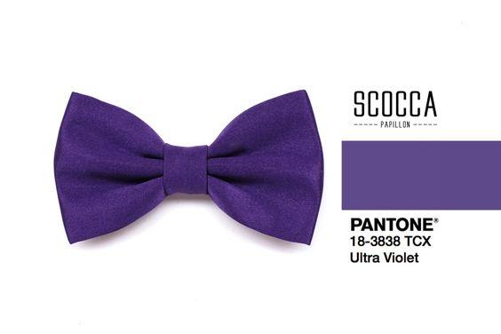 Accessori sposo ultra violet