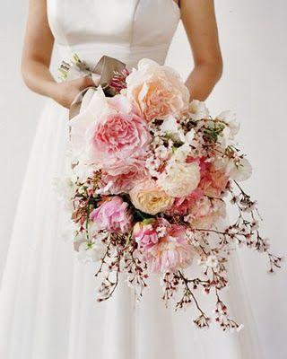 Bouquet sposa fiori di ciliegio
