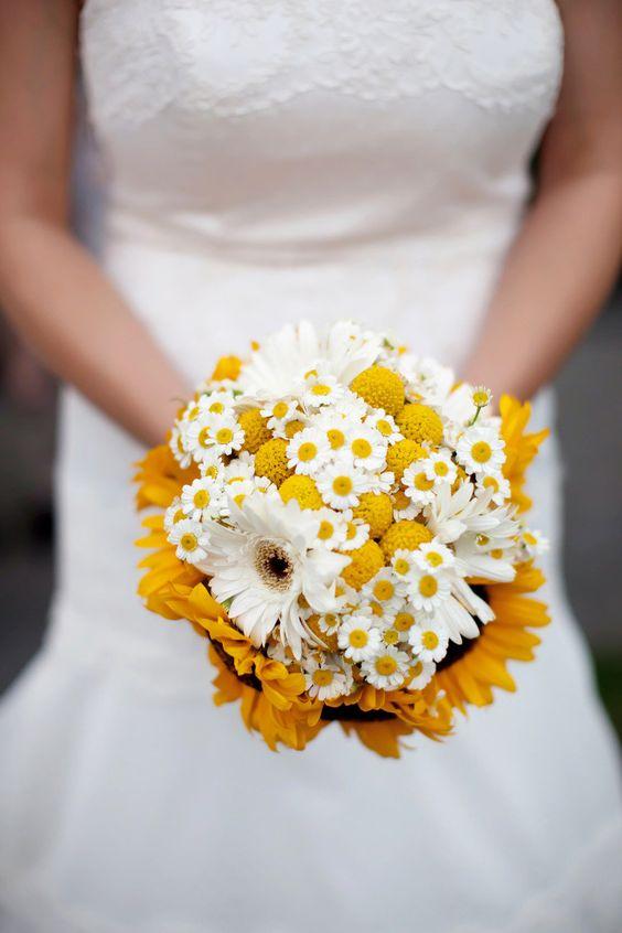 Bouquet sposa girasoli