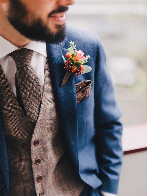 L'outfit rustico per lo sposo