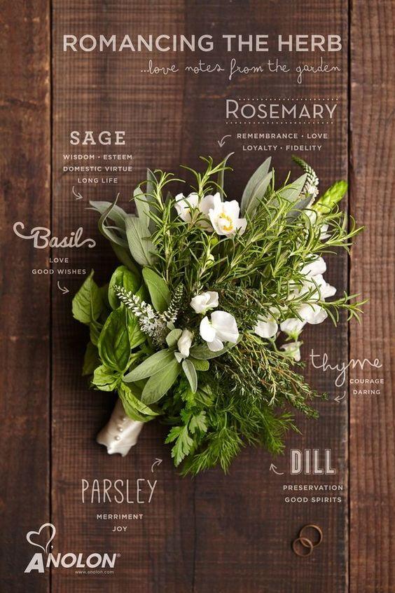 Bouquet sposa erbe aromatiche