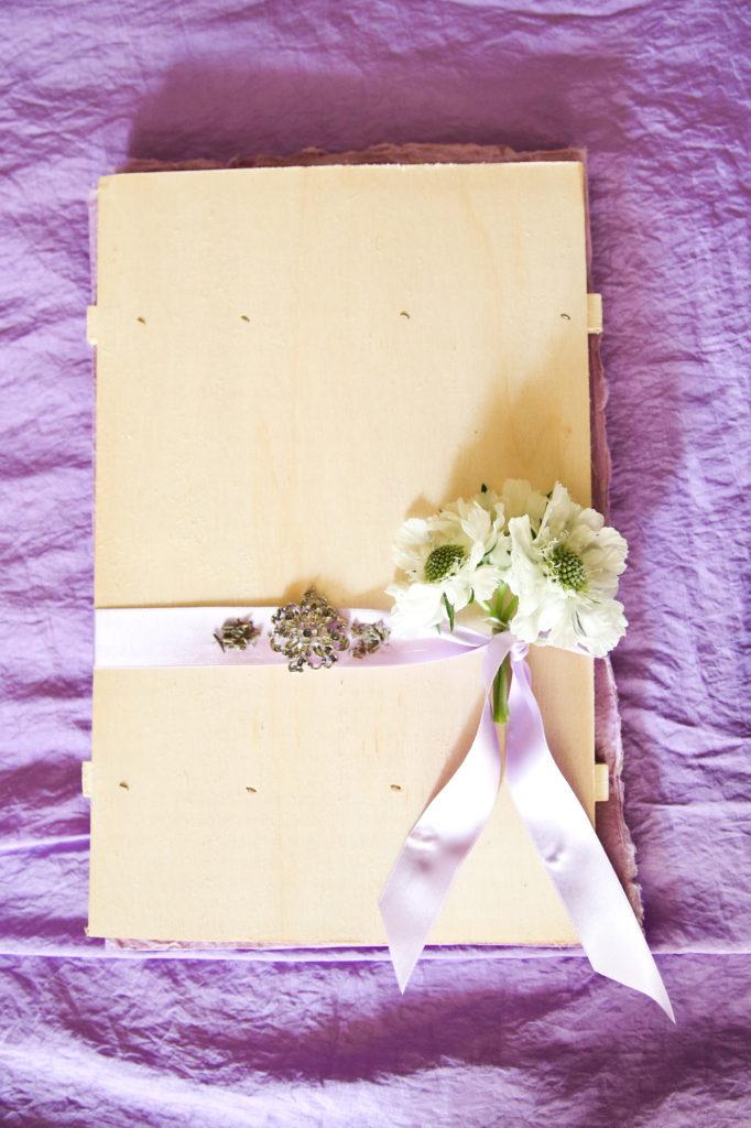 guest book fai da te in legno