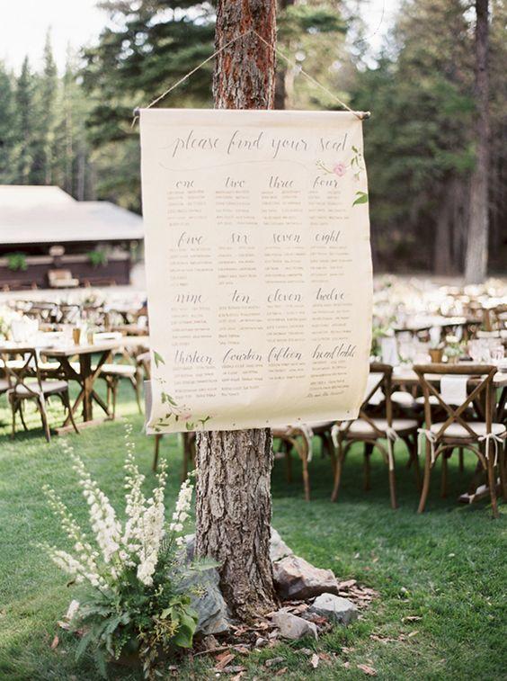 Tableau mariage pergamena