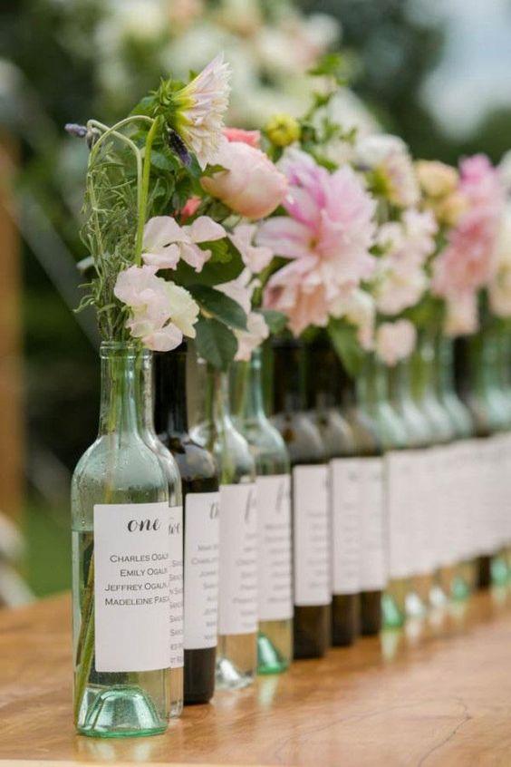 Tableau mariage bottiglie