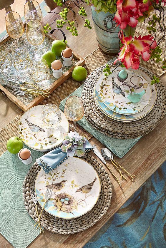 6 mise en place per la tavola di Pasqua da Pinterest