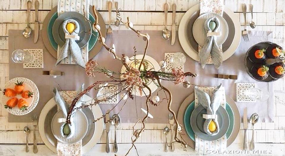Speciale Pasqua: una tavola divertente dai colori pastello