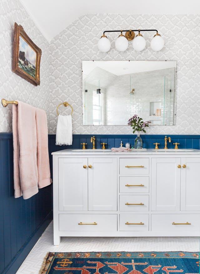 Dettagli di stile nella stanza da bagno