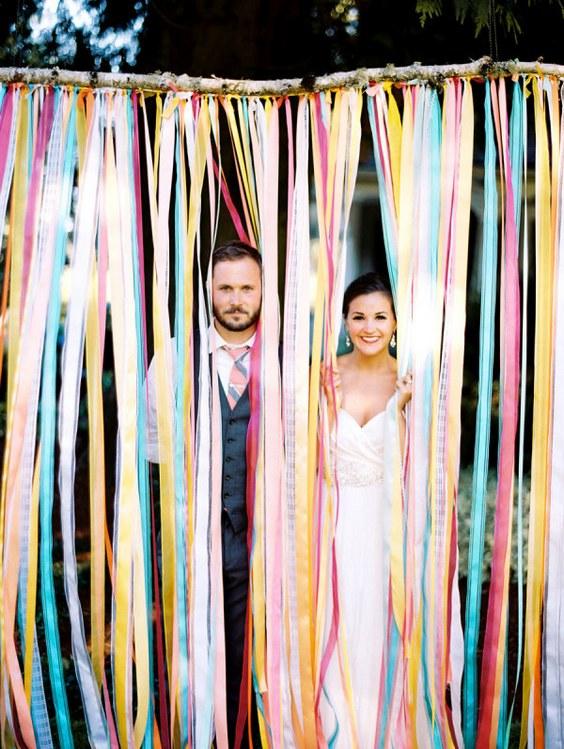 10 idee per decorare il matrimonio con i nastri