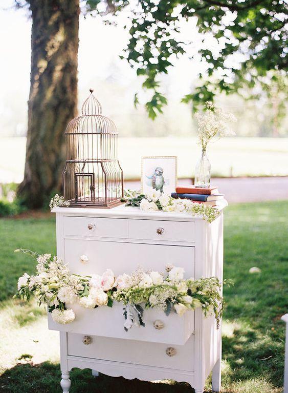 Gabbiette per decorare un matrimonio