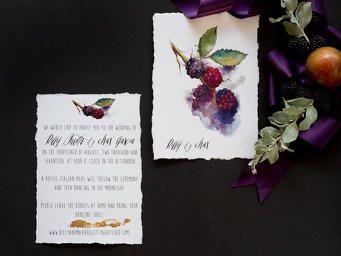 matrimonio a tema frutti di bosco
