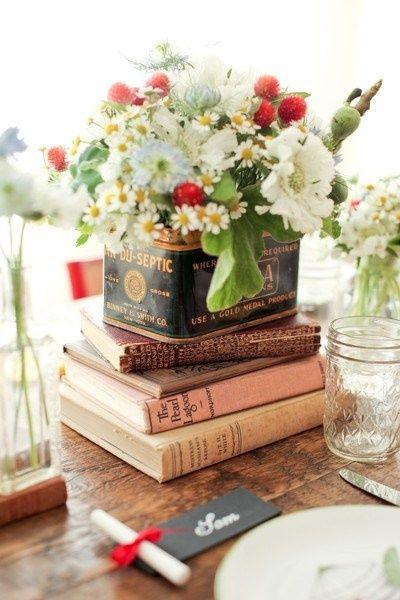 decorare il matrimonio con i libri