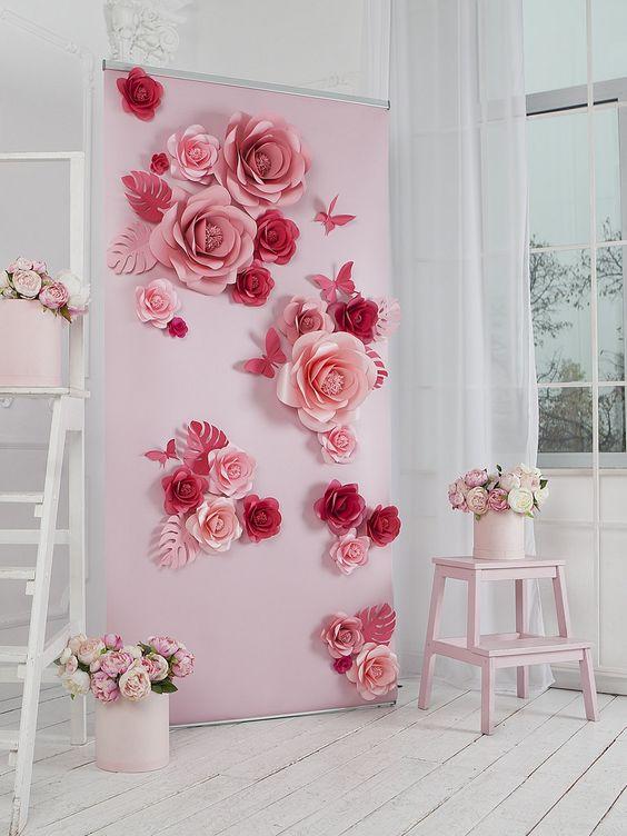 nozze con i fiori di carta