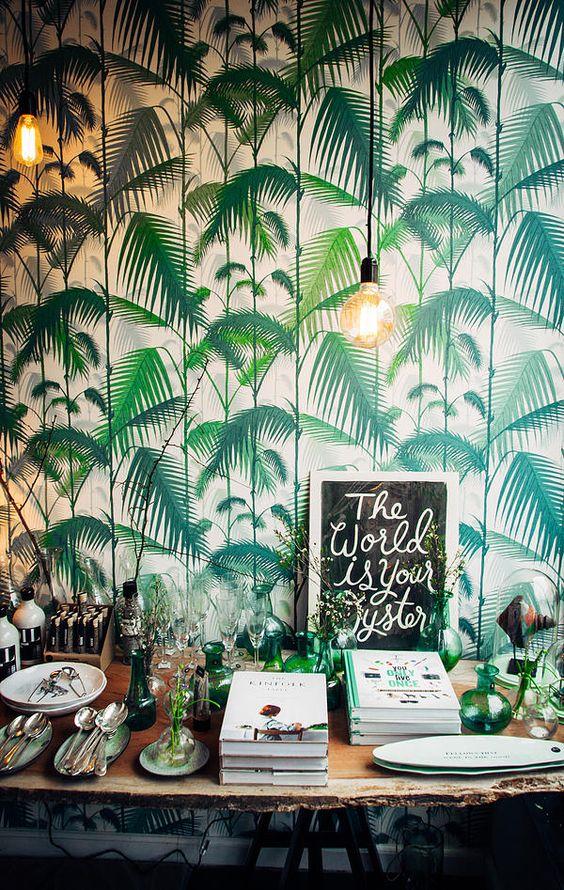 Tavola estiva Jungle Style