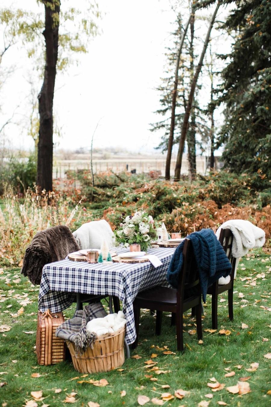 La tavola autunnale rustica