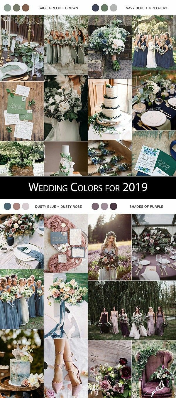Palette per il matrimonio 2019
