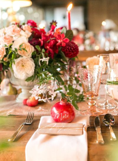 Fichi e melograni per il matrimonio autunnale