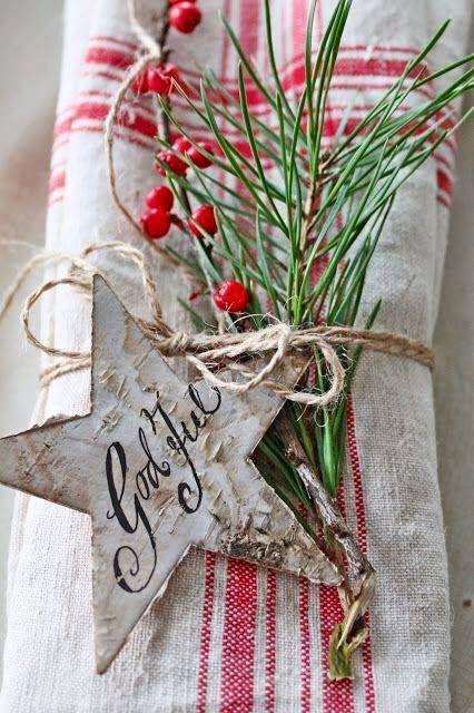 I tovaglioli per le tavole di Natale