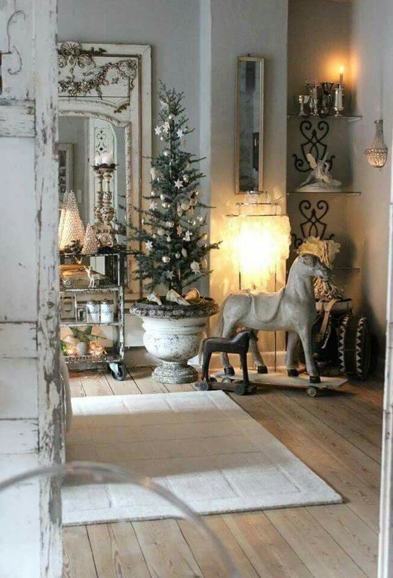 Un Natale shabby, due stili