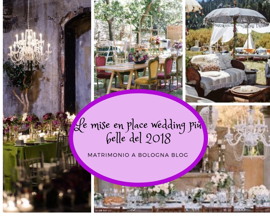 Le mise en place wedding più belle viste nel 2018