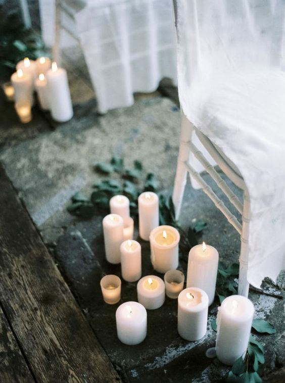 2 moodboard per il matrimonio invernale