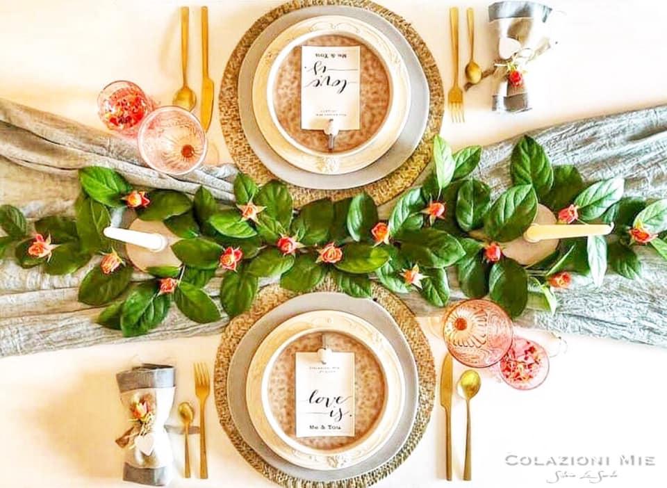 Una tavola di San Valentino per due