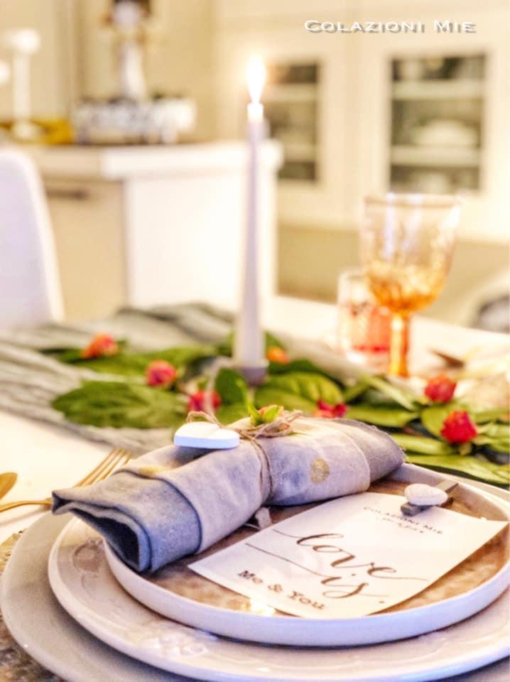 tavola di San Valentino per due