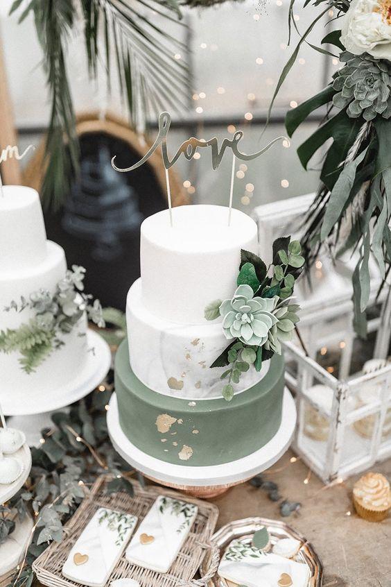 Tendenze: decorare la wedding cake con le succulente
