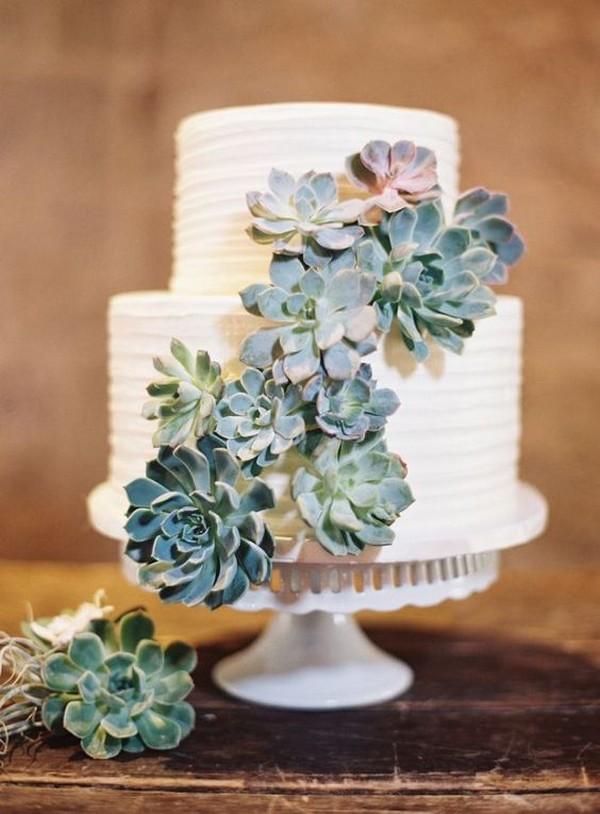 wedding cake con le succulente